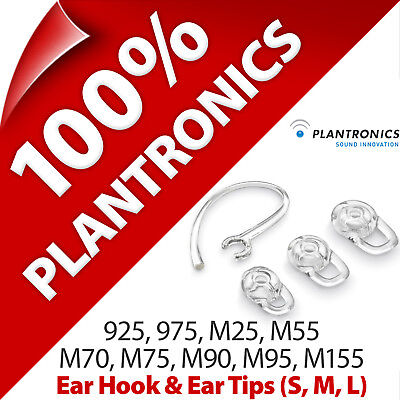 Plantronics Ear Loop/Hook + Tips Gels for 925 975 M25 M55 M70 M75 M90 M95 M155 Plantronics, Ear Gels
