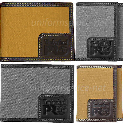 Timberland Pro Canvas / Leather Wallet Men WHITNEY Bifold, Trifold RFID
