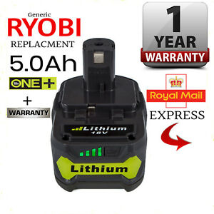 to fit RYOBI ONE+ 18V 5.0 Ah LITHIUM LI-ION BATTERY (RB18L50) + WARRANTY