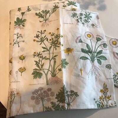 NWOT Ikea STRANDKRYPA Botanical Duvet Cover Pillowcases King Plant Bedding