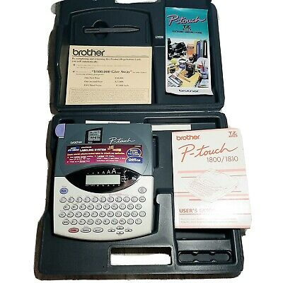 Brother P-touch 1800 Label Maker Printer With Hard Case And Manual Works