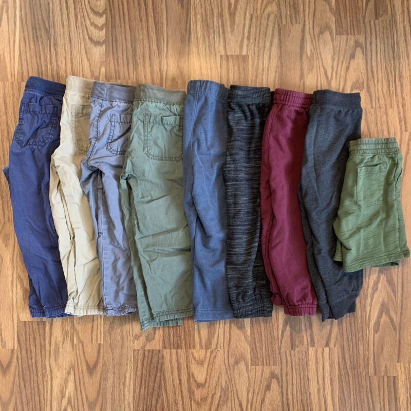 Lot 9 Pair Toddler Boy Pants Shorts 3T Carter's Jumping Beans Garanimals EUC!