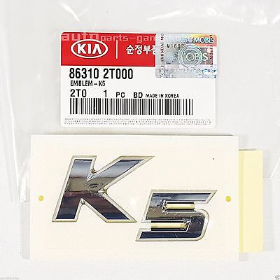 Genuine 863102T000 K5 Emblem - Trunk Emblem Badge For Kia Optima K5