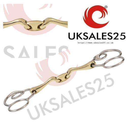 Universal 3 Ring Gag Verbindend Angled Bit (UKSALES25® Horse Bits)