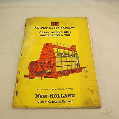 New Holland Service Parts Catalog Grain Drying Bins Models 735 765