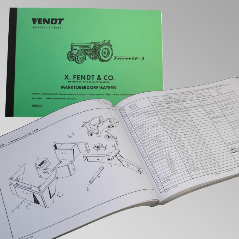 Fendt Ersatzteilliste für Favorit 3 Traktor Schlepper 150001 Foto 1