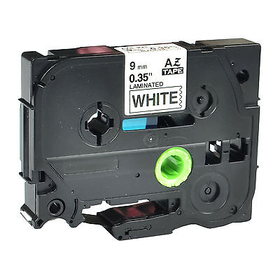 Tz-221 Laminated Label Tape For Brother P-touch Black On White Tape 9mm Tze 221