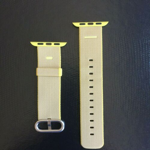 Apple Woven Nylon for Apple Watch 38mm Yellow/Light Gray MNK72AM/A
