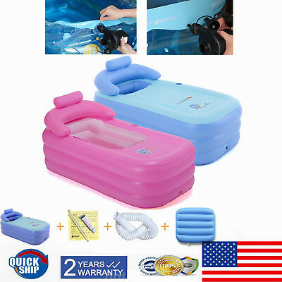 Blow Up Adult PVC Portable Spa Warm Bathtub Inflatable Bath Tub Kit  160cm USA](Inflatable Bath Adult)