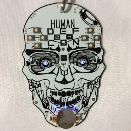 Human Def Con 24 Skull Lanyard Hacker Convention Dark Tangent Warthog9 Lostboy