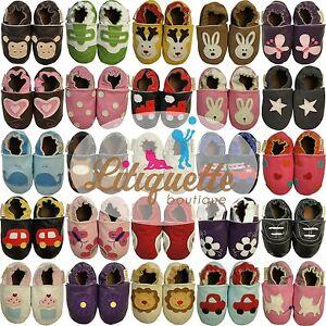 Litiquette-garcon-chaussons-bebe-enfant-chaussures-fille-cuir-semelle-souple