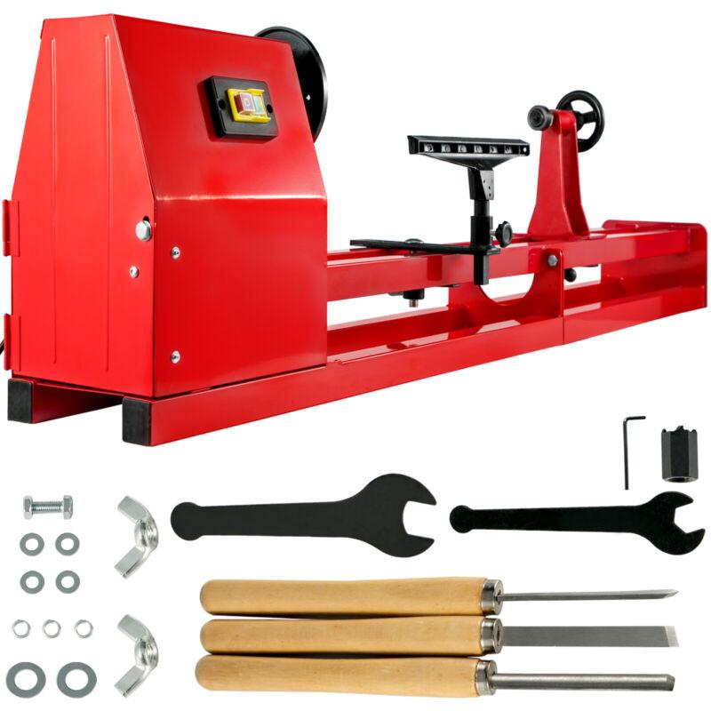 """Wood Lathe 14"""" x 40"""" Power Wood Turning Lathe 400W 4 Speed Benchtop"""