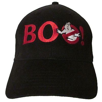 (BOO! Halloween Ghostbusters Logo Embroidered Baseball Hat Cap OSFA or FlexFit)