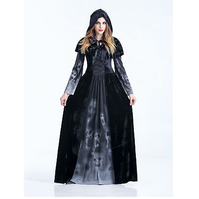 Womens Halloween Horror Gothic Black Medieval Reaper of Souls Costume - Horror Gothic Costumes