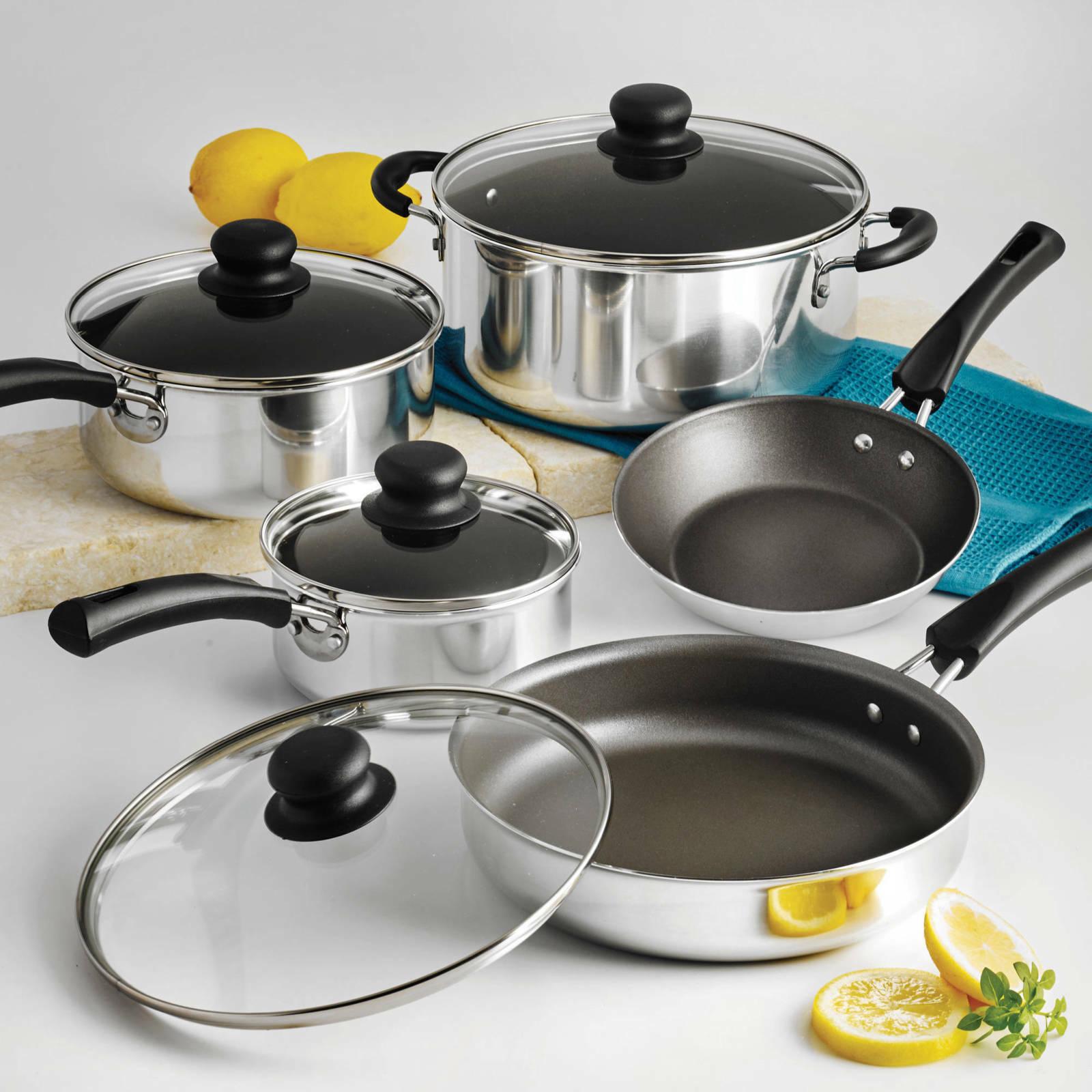 9 Piece Essential Nonstick Cookware Set Pots And Pans Kitche