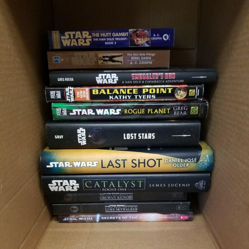 Star Wars Novel Book Lot Of 11. 9 Hard Cover