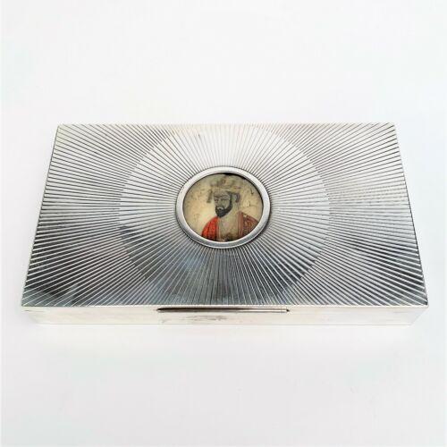 Gazdar Silver Art Deco Sterling Silver Humidor Box w/ Object d