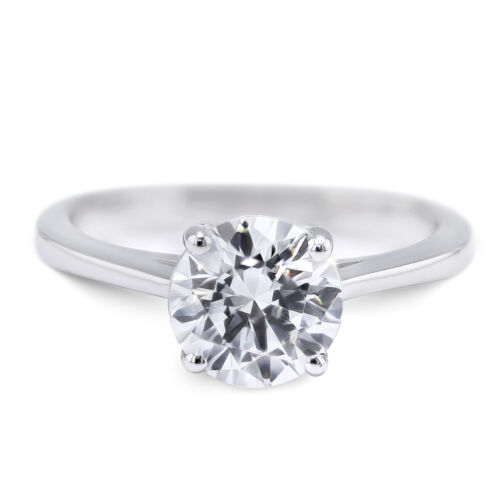 GIA CERTIFIED 1.51 Carat Round shape E - SI1 Solitaire Diamond Engagement Ring