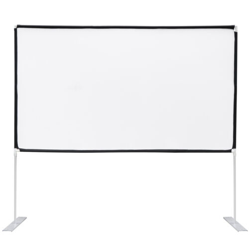 100 inch Portable Projection Screen 16:9 HD for Indoor Outdoor Home Theater Consumer Electronics