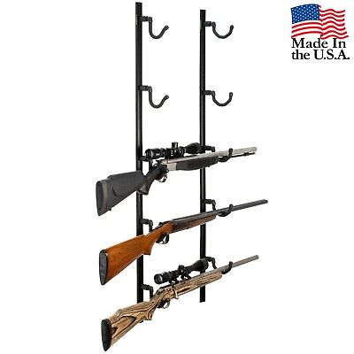 Hold Up Displays Gun Wall Rack 5 Rifle Shotgun Track System Black HDTK549-B USA for sale  Shipping to Canada