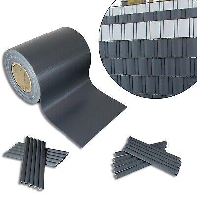 2,8€/m² PVC Sichtschutz Streifen Doppelstabmatten Zaun Folie Plane Windschutz