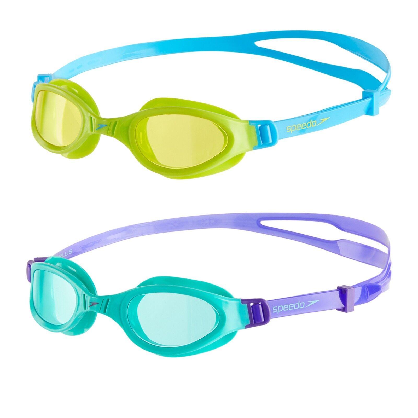 Schwimmbrille Speedo Futura Plus Junior Jungen Mädchen Kinder Taucherbrille 6-14