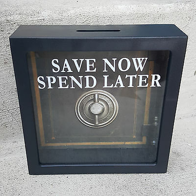 Shadow Box Decorative Coin Bank    Save Now Spend Later    New