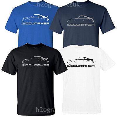 New Mens Widowmaker T Shirt For Fans Of Porsche 911 Turbo Sizes Small - 2XL