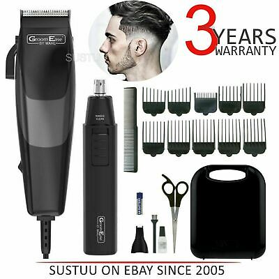Wahl 79449-317 GroomEase Hair Clipper & Trimmer Gift Set|18 Piece Kit|Black|