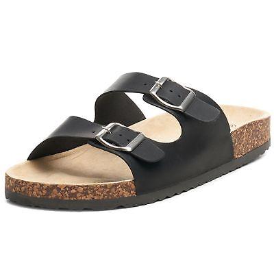 Alpine Swiss Mens Double Strap Slide Sandals EVA Sole Flat Casual Comfort Shoes