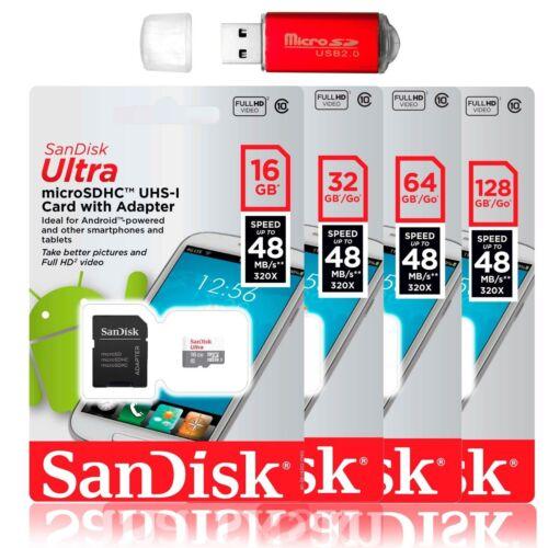SanDisk 128GB 64GB Ultra Micro SD Class 10 TF Flash SDXC Mem