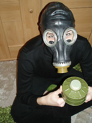 Gasmaske DDR UDSSR Maske ohne Filter Neu gas mask NVA Russland Gr 2Y MEDIUM GP5