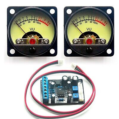 2x Tr-35 Vu Panel Meter Db Level Power Supply Driver Board For Audio Amplifier