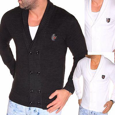 Herren Lange Strickjacke (JEEL Herren Pullover Jacke Übergangsjacke Cardigan Strickjacke Langarm-Shirt NEU)
