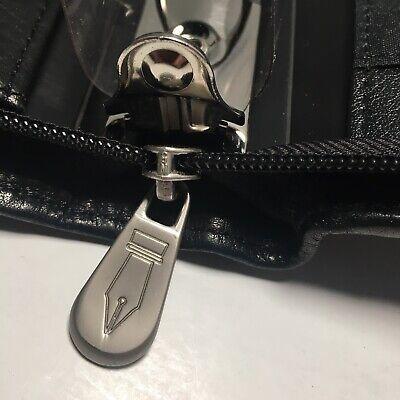 Colorado Pen Company Black Leather 3 Ring Classic Size Planner Zipper Organizer