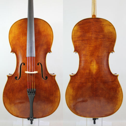 Surprisingly Exceptional Cello 4/4! Sweet Open Deep M6698 European wood!