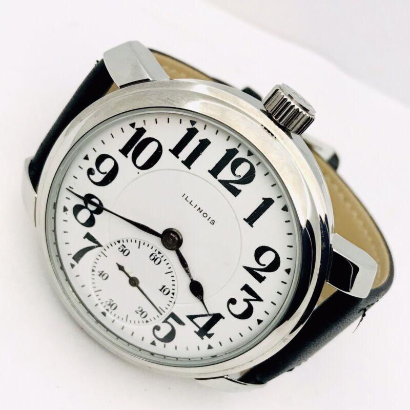 SERVICED 1916 lllinois 16S 23J Bunn speciai Wrist Railroad Pocket Watch