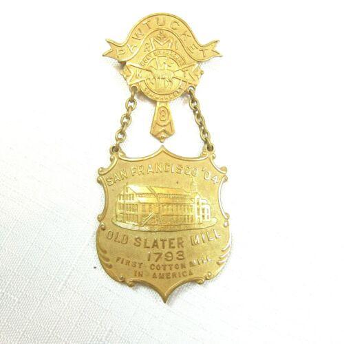 1904 Knights Templar 29th Triennial San Francisco Conclave Medal Pawtucket No. 8