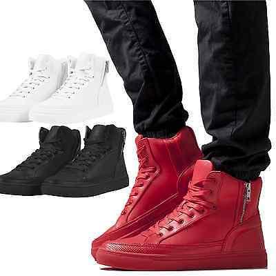 Herren High Boot Tops (Urban Classics Damen Herren Zipper High Top Boots 36-47 Sneaker Schuhe hoch hohe)