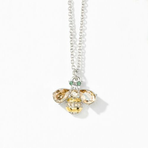 Touchstone Crystal Buzzy Necklace Item 1688N Crystal Golden Shadow, Crystal Silv