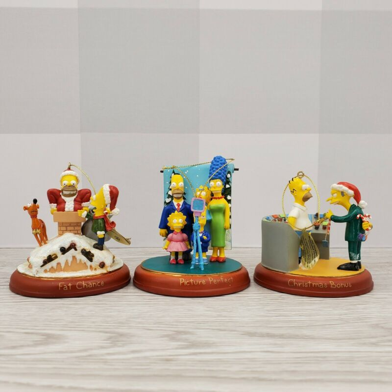 2004 Bradford Editions Simpsons Illuminated Christmas Ornament Collection 4th