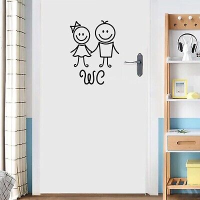 Cartoon men and women WC wall Sticker For Bathroom Decoration Vinyl Home Decals