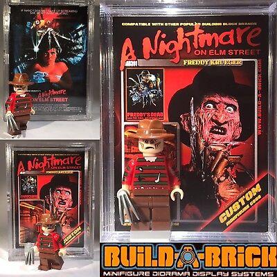 Freddy Krueger Stand - HORROR Freddy Krueger Custom Minifigure w/ Display Case & Lego Stand 391