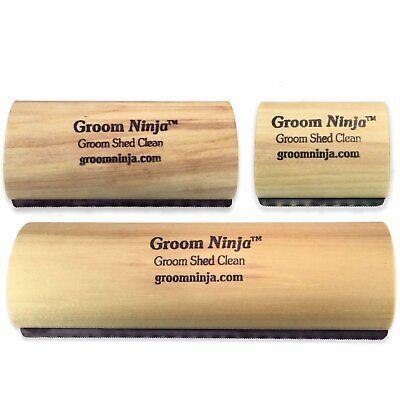 - Groom Ninja Blade Grooming Comb De-Shedding Dog Cat Horse Brush Rake Tool