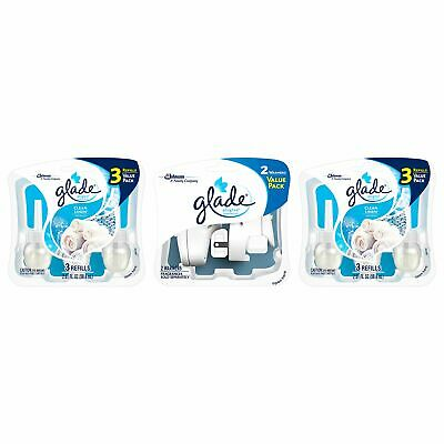 Glade PlugIns Scented Oil Air Freshener, Clean Linen, 6 Refi