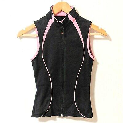 Lululemon Vest Running Fitted Black Pink Trim Womens Small 6