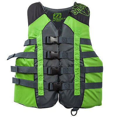 Jet Pilot Nylon Ladies Life Vest, Green US CGA More Than 90lbs PFD Type III