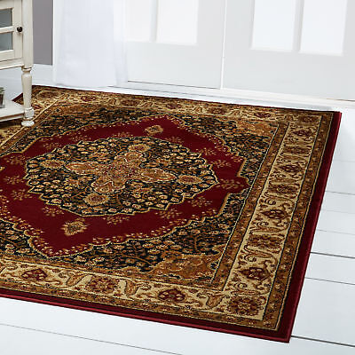 Medallion Rug - Red Medallion Oriental Area Rug 4x6 Persian Border Carpet -  Actual 3'6