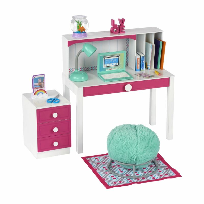 """My Life As Desk Play Set for 18"""" Dolls, 24 Pieces"""