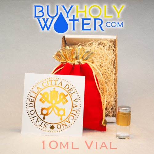 10mL Holy Water Vial Authentic Blessed By Pope Hand Made Numbered Limited. - $15.87